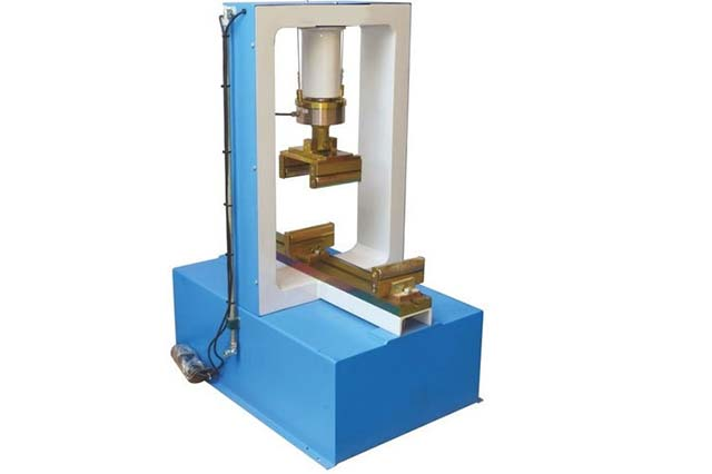 Compression-flexure cement testing frames