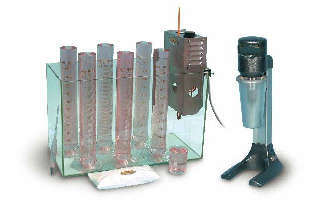 Particle size analysis set: hydrometer method