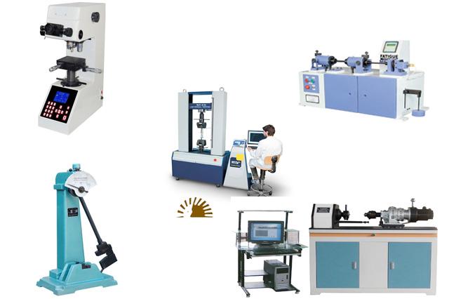 Steel testing lab equipment