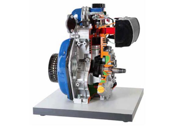 Cut Model Of Single Cylinder Four Stroke Diesel Engine
