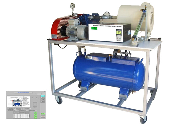 Single Stage Air Compressor Setup with data Acquisition