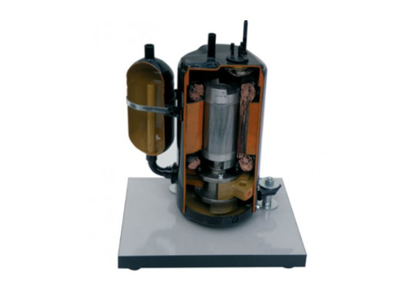 Cut Section Model Of Rotary Hermetic Compressor